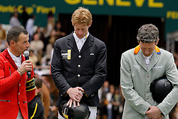 1. Ehning Markus (GER)<br /> 2. Schwizer PIus (SUI) and Beerbaum Ludger (GER)<br /> Rolex FEI World Cup Final - Geneve 2010<br /> © Dirk Caremans