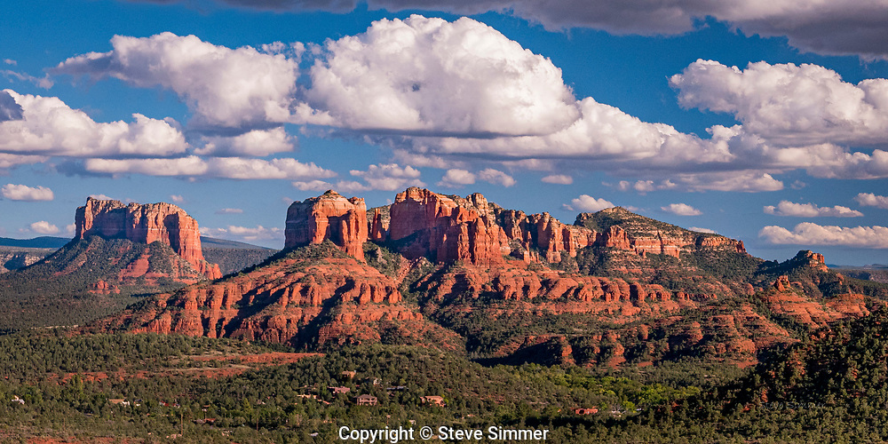 Sedona, AZ.  The road to the Sedona Airport offers spectaular views. This is from a point along that road, looking northwest.