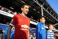 Angel Di Maria of Manchester United enters the pitch before k/o. Barclays Premier league match, Queens Park Rangers v Manchester Utd at Loftus Road in London on Saturday 17th Jan 2015. pic by John Patrick Fletcher, Andrew Orchard sports photography.