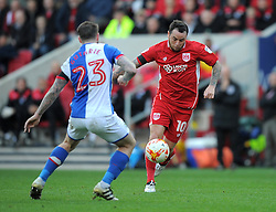 Lee Tomlin of Bristol City in action during the Sky Bet Championship match between Bristol City and Blackburn Rovers at Ashton Gate Stadium on 22 October 2016 in Bristol, England - Mandatory by-line: Paul Knight/JMP - 22/10/2016 - FOOTBALL - Ashton Gate Stadium - Bristol, England - Bristol City v Blackburn Rovers - Sky Bet Championship
