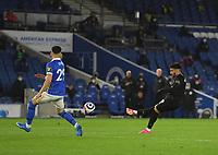 Football - 2020 / 2021 Premier League - Brighjton & Hove Albion vs West Hame United - Amex Stadium<br /> <br /> West Ham United's Said Benrahma scores his side's equalising goal to make the score 1-1.<br /> <br /> COLORSPORT