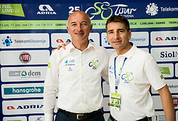 Bogdan Fink, race director and Andrej Filip after the press conference of 25th Tour de Slovenie 2018 cycling race, on June 12, 2018 in Hotel Livada, Moravske Toplice, Slovenia. Photo by Vid Ponikvar / Sportida