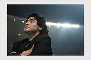 Diego Maradona. Before the Champions League final. Istanbul, May 25, 2005.