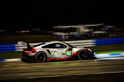 March 13, 2019 - Sebring, Etats Unis - 92 PORSCHE GT TEAM (DEU) PORSCHE 911 RSR GTE PRO MICHAEL CHRISTENSEN (DNK) KEVIN ESTRE  (Credit Image: © Panoramic via ZUMA Press)