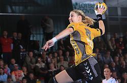 Tamara Mvsar (8) at handball match of 2nd Round of EHF Women`s Championsleague between RK Krim Mercator (SLO) and Metz Handball (FRA), in Arena Kodeljevo, Ljubljana, Slovenia, on November 9, 2008. Metz  won match against RK Krim Mercator with 31:26.