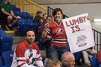 KELOWNA, CANADA - OCTOBER 2: Kraft Hockeyville fans on October 2, 2016 at Kal Tire Place in Vernon, British Columbia, Canada.  (Photo by Marissa Baecker/Shoot the Breeze)  *** Local Caption ***