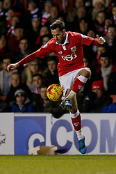 Greg Cunningham of Bristol City in action - Photo mandatory by-line: Rogan Thomson/JMP - 07966 386802 - 29/01/2015 - SPORT - FOOTBALL - Bristol, England - Ashton Gate Stadium - Bristol City v Gillingham - Johnstone's Paint Trophy Southern Area Final Second Leg.