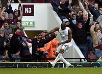 Photo: Olly Greenwood.<br />West Ham United v Arsenal. The Barclays Premiership. 05/11/2006. West Ham's Marlon Harewood celebrates scoring