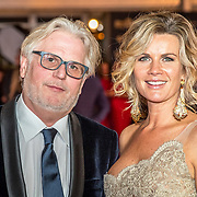 NLD/Amsterdam/20171012 - Televizier-ring Gala 2017, Frank Timmer en partner Annet Barlo