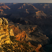 Evening view from the North Rim in Grand Canyon National Park, AZ.