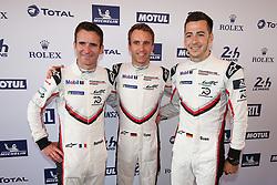 June 11, 2018 - Le Mans, FRANCE - 94 PORSCHE GT TEAM (DEU) PORSCHE 911 RSR GTE ROMAIN DUMAS (FRA) TIMO BERNHARD (DEU) SVEN MULLER  (Credit Image: © Panoramic via ZUMA Press)