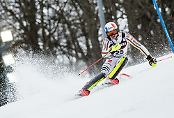 """Linus Strasser (GER) competes during 1st Run of FIS Alpine Ski World Cup 2017/18 Men's Slalom race named """"Snow Queen Trophy 2018"""", on January 4, 2018 in Course Crveni Spust at Sljeme hill, Zagreb, Croatia. Photo by Vid Ponikvar / Sportida"""