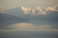 the Alps from Combloux, France - photograph by Owen Franken