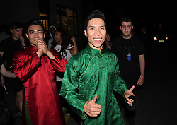 The Giang Brothers leaving the Hammersmith Apollo, London, after taking part in the final of Britain's Got Talent.