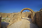 Israel, Caesarea, The arched at the Hippodrome built by king Herod the Great in the first century CE