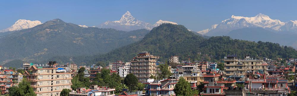 Panoramic image of Pokhara Nepal