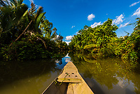 Meandering down the backwaters in Long Khanh (Cai Lay district), Mekong Delta, Vietnam.