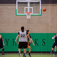 A team called the Honeybees faces off against Squad 8 during the 5th annual Don't Drink and Drive Peshlakai Angels basketball tournament in Newcomb Saturday.
