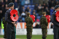 Photo: Pete Lorence.<br />Leicester City v Plymouth Argyle. Coca Cola Championship. 11/11/2006.<br />A member of the Air Training Corps at the start of the match.