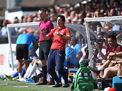 Arsenal manager Unai Emery during the pre-season match at Meadow Park, Boreham Wood.