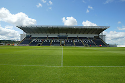 The main stand of the Falkirk Stadium, 25/07/2004..FALKIRK 1v 2 DUNDEE.                      ..