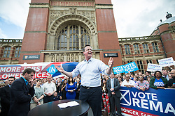© Licensed to London News Pictures . 22/06/2016 . Birmingham , UK . DAVID CAMERON speaks . British Conservative Party Prime Minister David Cameron , Tim Farron and Paddy Ashdown from the Liberal Democrat Party and Harriet Harman from the Labour Party , attend a joint rally at Birmingham University in support of the REMAIN in EU campaign , ahead of referendum polling opening tomorrow morning (23rd June 2016) . Photo credit: Joel Goodman/LNP