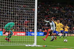 14 November 2017 -  International Friendly - England v Brazil - Tammy Abraham of England reacts after failing to connect with a cross in the last minute - Photo: Marc Atkins/Offside