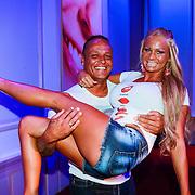 NLD/Hilversum/20130820- Najaarspresentatie RTL 2013, Barbie en Michael, Samanatha de Jong en partner Michael van der Plas
