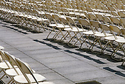 rows of empty chairs.