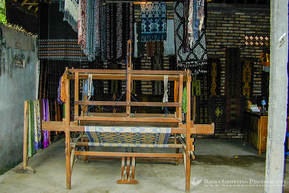Bali, Karangasem, Tenganan. A traditional Bali Aga village. Tenganan is famous for its unique ikat textiles.