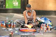 Street artist, Riga, Latvia © Rudolf Abraham