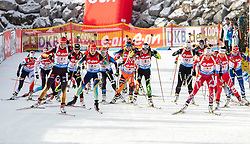 13.12.2014, Biathlonarena, Hochfilzen, AUT, E. ON IBU Weltcup, Staffel, Damen, im Bild Feature Massenstart // during Womens Relay of E. ON IBU Biathlon World Cup at the Biathlonstadium in Hochfilzen, Austria on 2014/12/13. EXPA Pictures © 2014, PhotoCredit: EXPA/ JFK