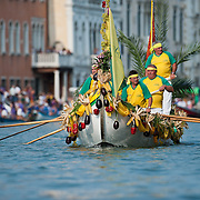 VENICE, ITALY - SEPTEMBER 05:  Venetian wearing costumes reproducing outfits dating back 1489 take part in the Historic Regata September 5, 2010 in Venice, Italy. The Historic Regata is the most exciting rowing race on the Gran Canal for the locals and one of the most spectacular ***Agreed Fee's Apply To All Image Use***.Marco Secchi /Xianpix. tel +44 (0) 207 1939846. e-mail ms@msecchi.com .www.marcosecchi.com