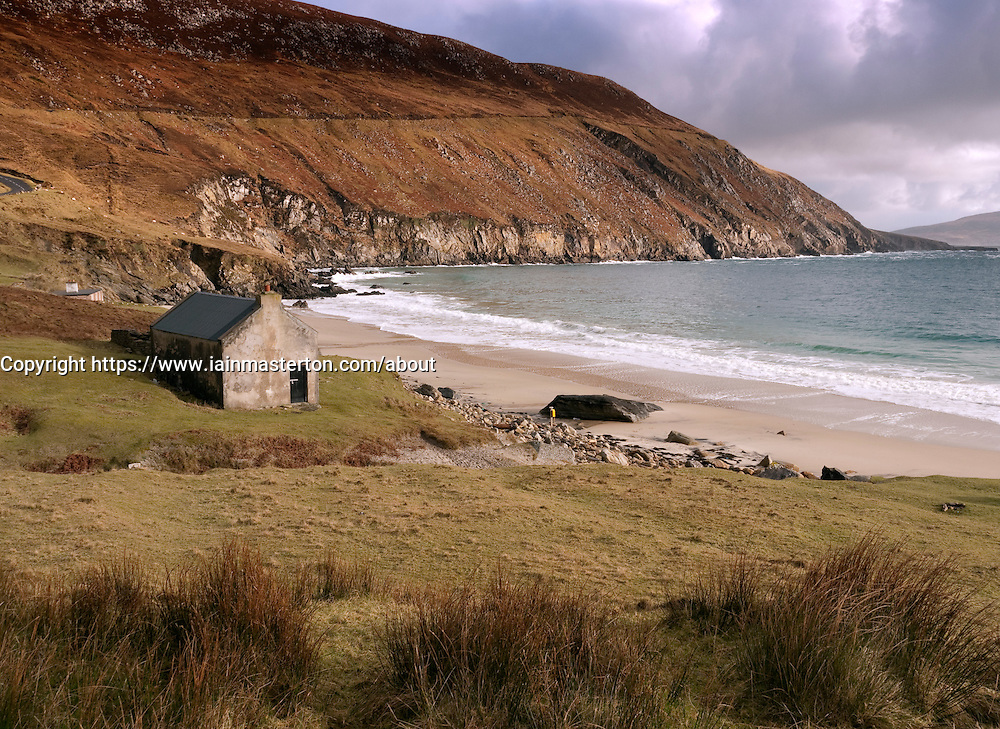 Keem Bay on Achill Island in county Mayo on west coast of Ireland
