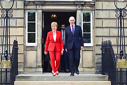 Nicola Sturgeon and John Swinney lead new cabinet out on to steps at Bute House, Edinburgh  pic copyright Terry Murden @edinburghelitemedia