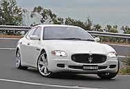 2007 Maserati Quattroporte Sport GT (Bianco Eldorado) .Corporate Drive Day with Octane Events & The Supercar Club.Arthurs Seat, Mornington Pennisula, Victoria .6th-7th of August 2009 .(C) Joel Strickland Photographics