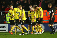 Brewers players celebrate going 1-0 ahead during the EFL Sky Bet League 1 match between Burton Albion and Coventry City at the Pirelli Stadium, Burton upon Trent, England on 17 November 2018.