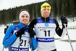 Peter Kauzer and Jost Zakrajsek of Slovenian Kayak Canoe National Team at Winter training of Cross country and Biathlon, on January 7, 2015 in Rudno polje, Pokljuka, Slovenia.  Photo by Vid Ponikvar / Sportida