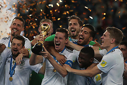 July 2, 2017 - Saint Petersburg, Russia - Players of the Germany national football team celebrate winning after the 2017 FIFA Confederations Cup final match between Chile and Germany at Saint Petersburg Stadium on July 02, 2017 in St. Petersburg, Russia. (Credit Image: © Igor Russak/NurPhoto via ZUMA Press)