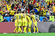 SAINT-DENIS, FRANCE, 10.06.2016 - FRANCE-ROMANIA - Bogdan Stancu from Romania celebrates his goal against France in a match valid for the 1st round of Group A of Euro 2016 in the Stade de France in Saint-Denis, this sexta- Friday (10).