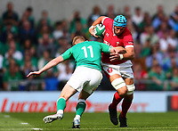 Rugby Union - 2019 pre-Rugby World Cup warm-up (Guinness Summer Series) - Ireland vs. Wales<br /> <br /> Justin Tipuric (Wales) in action against Keith Earls (Ireland) at The Aviva Stadium.<br /> <br /> COLORSPORT/KEN SUTTON