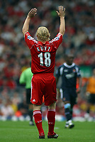 Photo: Paul Thomas.<br /> Liverpool v West Ham United. The Barclays Premiership. 26/08/2006.<br /> <br /> Dirk Kuyt, New Liverpool signiing.