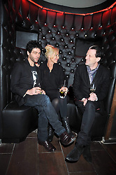 Left to right, TIM NOBLE, AMANDA ELIASCH and TIM WILLIS at a reception following the screening of the film '44 Inch Chest' part of the 2009 BFI London Film Festival, held at Maddox, 3-5 Mill Street, London on 17th October 2009.