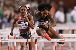 BRUSSELS, Sept. 1, 2018  Brianna McNeal (Front) of the United States competes during the women's 100m hurdles at the IAAF Diamond League athletics meeting in Brussels, Belgium, Aug. 31, 2018. Brianna McNeal claimed the title in a time of 12.61 seconds. (Credit Image: © Zheng Huansong/Xinhua via ZUMA Wire)