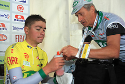 Jure Golcer of Slovenia (LPR Brakes) winner of the 15th Tour de Slovenie in the end of 4th stage from Celje to Novo mesto (157 km), on June 14,2008, Slovenia. (Photo by Vid Ponikvar / Sportal Images)/ Sportida)