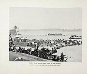 """SUPPLY TRAIN, SECOND CORPS, ARMY OF THE POTOMAC Taking in Supplies on the James River for General Grant's Army. from The American Civil War book and Grant album : """"art immortelles"""" : a portfolio of half-tone reproductions from rare and costly photographs designed to perpetuate the memory of General Ulysses S. Grant, depicting scenes and incidents in connection with the Civil War Published  in Boston and New York by W. H. Allen in 1894"""