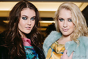 PROVIDENCE, RI - FEB 13: Sadie Palmer and Jessie Kentworthy pose backstage prior to the Alistair Archer show during StyleWeek NorthEast on February 13, 2015 in Providence, Rhode Island. (Photo by Cat Laine)