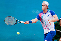 Julian Reister of Germany during a tennis match against the Igor Sijsling of Netherland in 1st round of singles at 25th Vegeta Croatia Open Umag, on July 22, 2014, in Stella Maris, Umag, Croatia. Photo by Urban Urbanc / Sportida