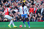 Emmanuel Adebayor of Crystal Palace in action. Barclays Premier league match, Arsenal v Crystal Palace at the Emirates Stadium in London on Sunday 17th April 2016.<br /> pic by John Patrick Fletcher, Andrew Orchard sports photography.