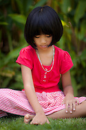 Portrait of a Thai Girl in a red dress